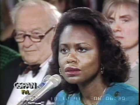 Sen. Alan Simpson questions Anita Hill @ Thomas confirmation hearing - Oct. 12, 1991