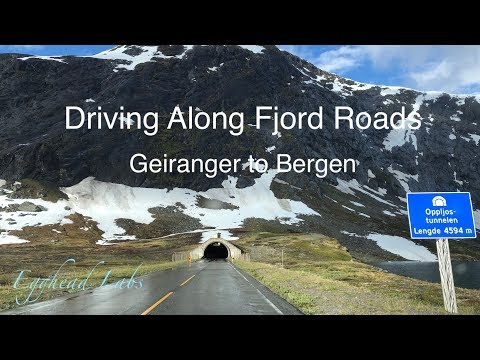 Driving Along Fjord Roads 7 - Geiranger to Bergen (time-lapse)