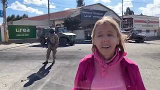 Medea Benjamin returns to the Senkata gas plant the day after police and military forces violently repressed peaceful protesters., From YouTubeVideos