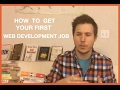 👨‍🌾 How to Get Your First Web De