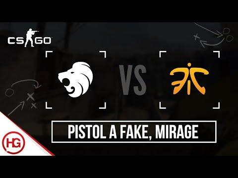 North vs Fnatic - Mirage, Pistol A Fake (CS:GO Strategy Breakdown #35)