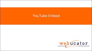 YouTube Embed