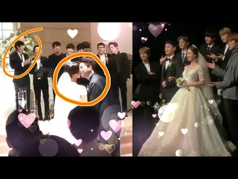 Park Chanyeol Cute Reaction At Yoora Kissing 💞her Husband Exo Singing At Yoorawedding #EXO Chanyeol