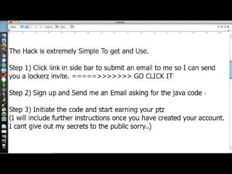 NEW Lockerz Hack- 50 PTZ A DAY JAVA Hack -Working 11/19