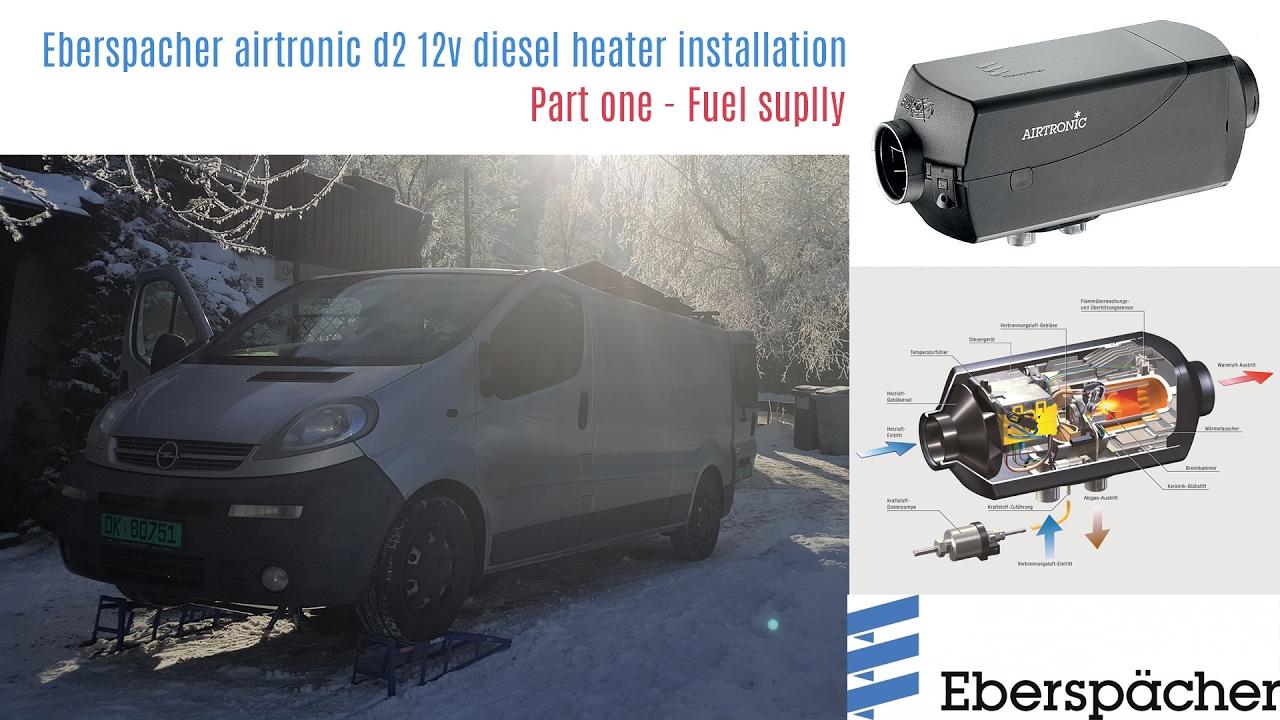 eberspacher airtronic d2 diesel heater installation part 1 youtube rh youtube com