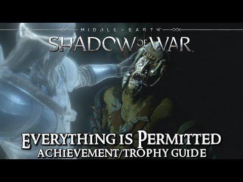 shadow of war trophy guide