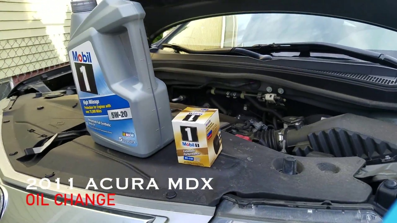 how to change engine oil for acura mdx or honda pilot 2009