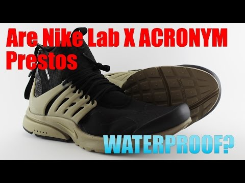 Acronym Presto Part 2: Are they Waterproof??? + Closeups of the Black