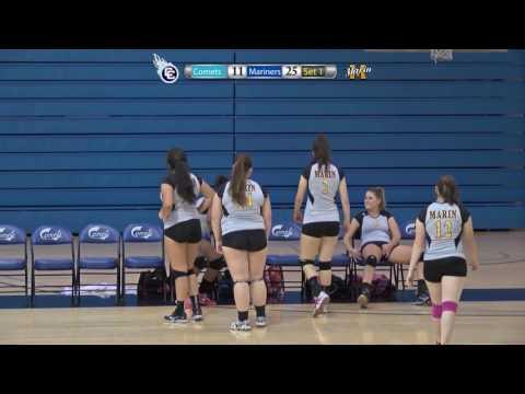 10/9/15 Marin Mariners vs Contra Costa Comets Women's College Volleyball