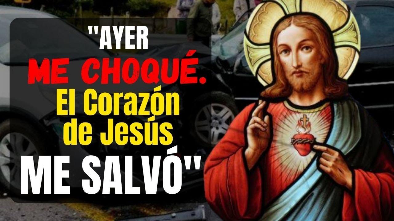 MILAGROS EN ECUADOR: Ayer ME CHOQUÉ con mis sobrinas. El Sagrado Corazón de Jesús me salvó.