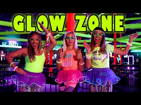 Glow in the Dark Challenge Party at GlowZone with Obstacle Course & Bumper Cars. Totally TV