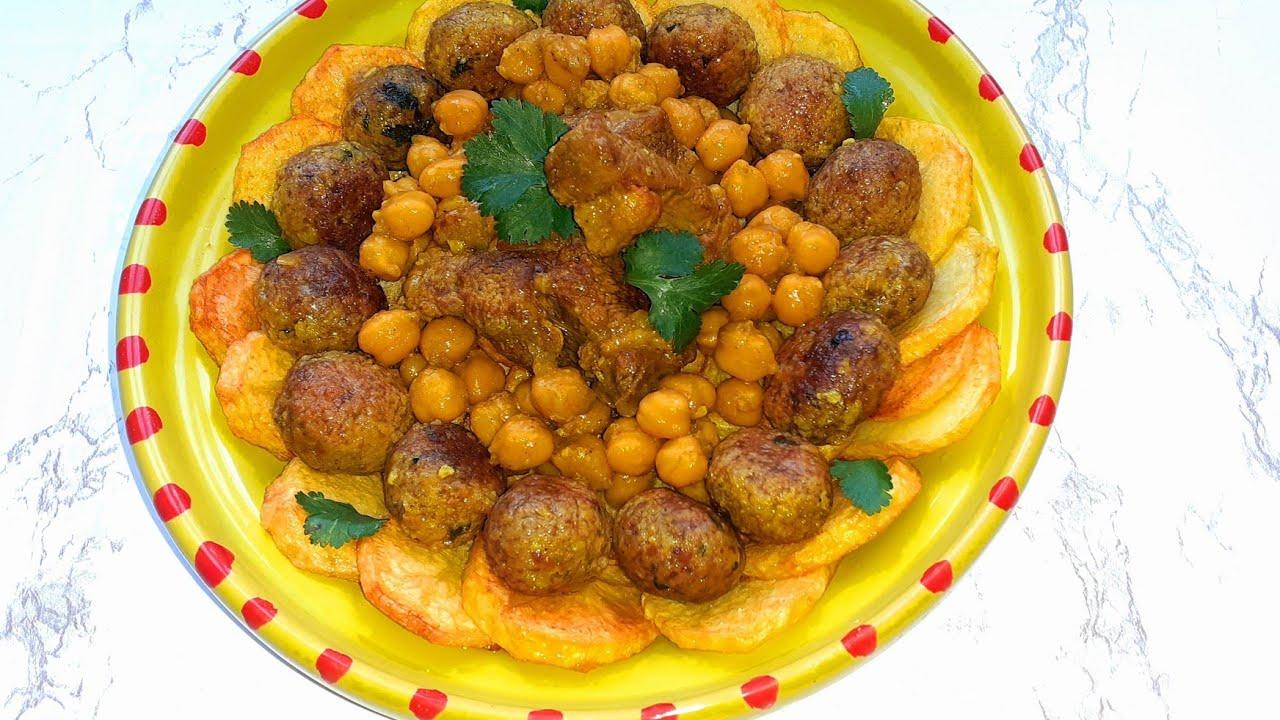 Mthewem;boulettes de viande en sauce rougeمثوم ;كرات اللحم بالصلصة الحمراء