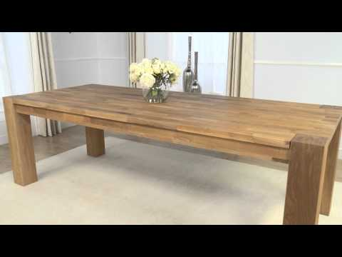 Oak Furniture Showroom: Madrid Oak Dining Table
