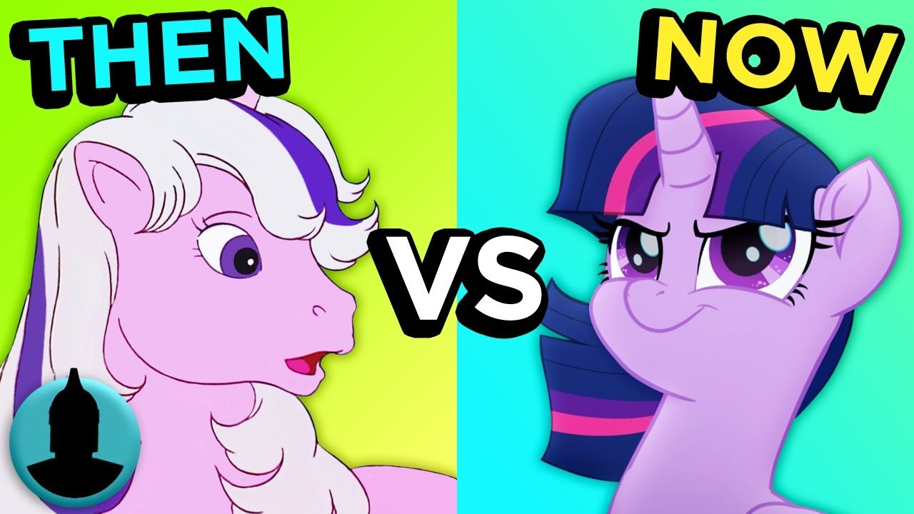 0aee64b7f1416 My Little Pony - Then vs Now - Evolution of My Little Pony (Tooned ...