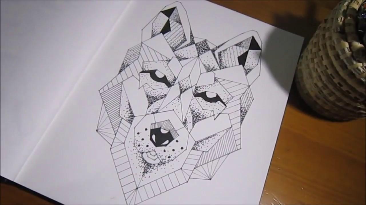 Dibujos Geométricos 5 Lobo Wolf Youtube