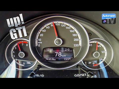 2018 VW up! GTI (115hp) - 0-100 km/h acceleration (60FPS)