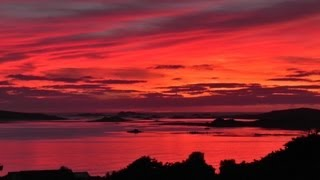 The Most Beautiful Sunset and Red Sky in The World Ever - Isles of Scilly