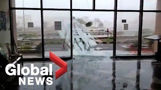Cyclone Fani: Powerful storm shatters windows as it lashes India's east coast