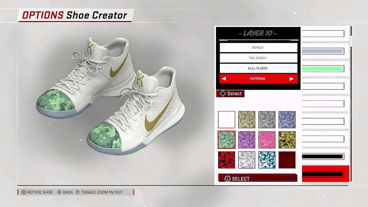 NBA 2K18 Shoe Creator - Nike Kyrie 3 Custom