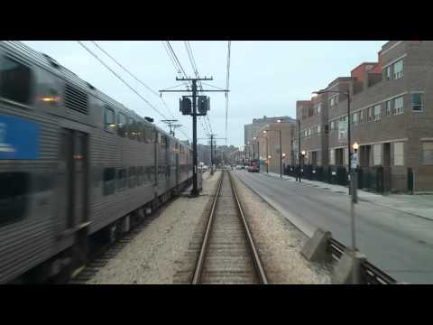 Metra Cab ride from 93rd st/South Chicago to Van Buren street station on the Metra Electric