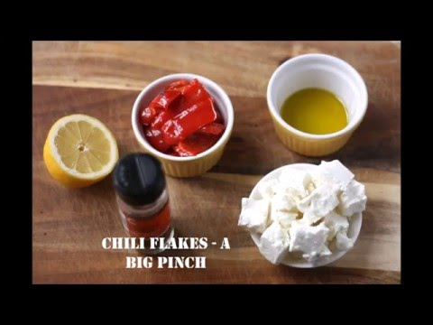 Roasted red pepper and feta dip (ready in 5 minutes)