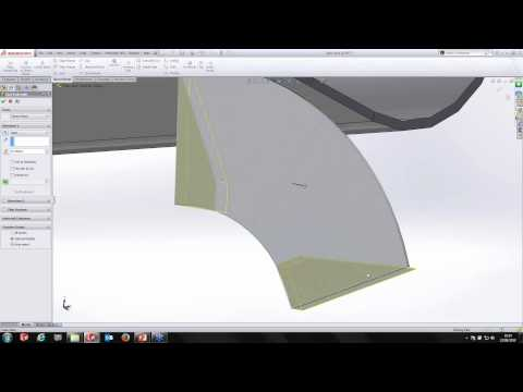 Using Advanced sheet metal functionality in SolidWorks
