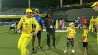 Dhoni race with little boy | very funny| csk vs kxip 2019