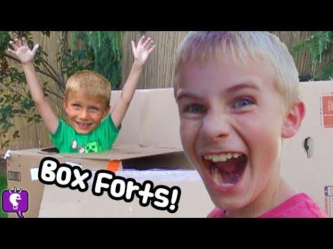 BOX FORT HUNT! Big Wolf Adventure by HobbyKidsTV