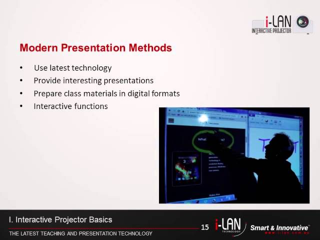 i-LAN 3LCD Interactive Projector Video Part-1
