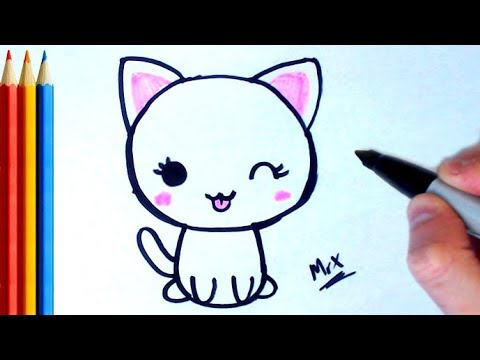 How to Draw Cute Cat - Step by Step Tutorial For Kids