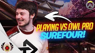 Playing vs Overwatch League Pro Surefour!