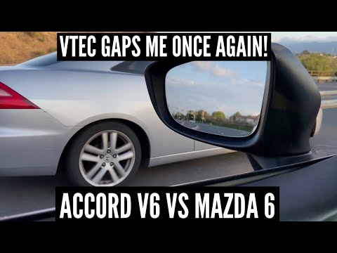 Getting GAPPED BADLY By 2003 Honda Accord V6 In My 2015 Mazda 6!! from YouTube · Duration:  2 minutes 12 seconds