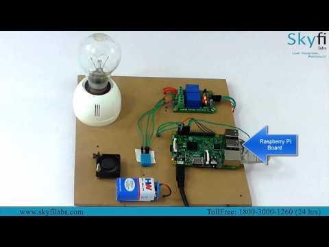 IoT using Raspberry Pi - Skyfi Labs Online Challenge
