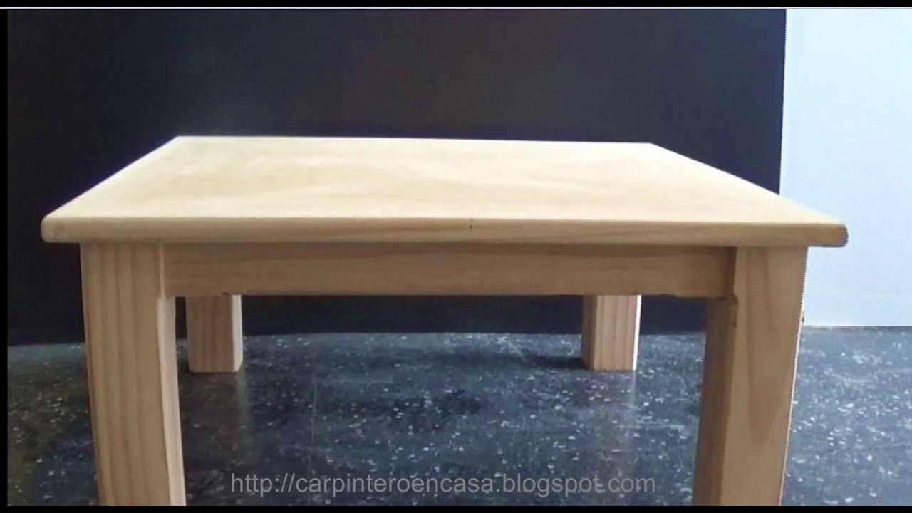 Como hacer una mesa de madera wooden table part 2 for Mesa para bar madera