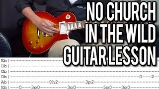 No Church In The Wild - Intro Guitar Tutorial (With Tabs)
