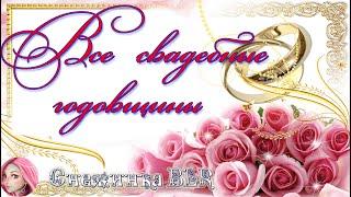 Все свадебные годовщины