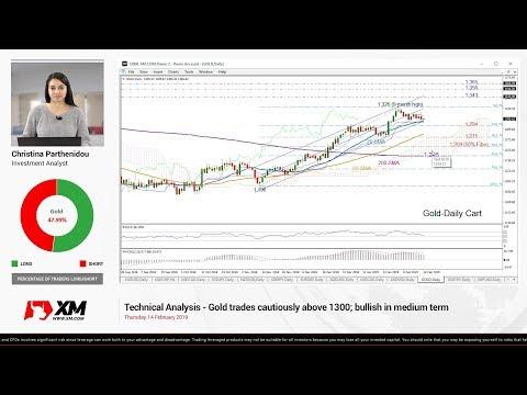 Technical Analysis: 14/02/2019 - Gold trades cautiously above 1300; bullish in medium term