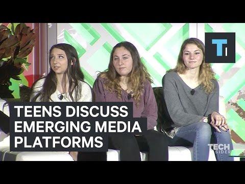 Teens discuss emerging media platforms