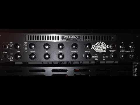 MESA BOOGIE RECTIFIER RECORDING PREAMP(All Channels And Modes Test)