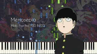 Memosepia - Mob Psycho 100 II ED2 - Piano Arrangement [Synthesia]