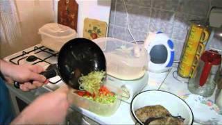 Рецепт для пароварки - сом с овощами.mp4