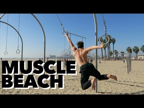 SANTA MONICA MUSCLE BEACH WORKOUT!!! HEAVEN ON EARTH!