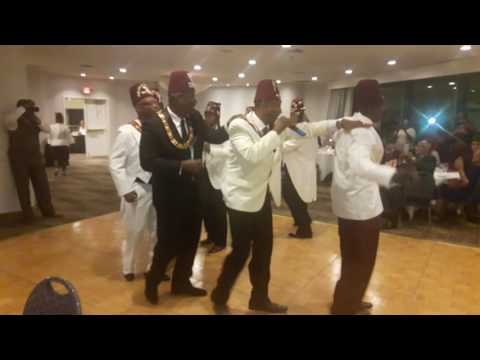 The Black Masonic Temple Brother's lineup dance.