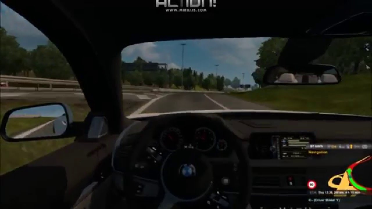Bmw X6m Hd Truck Ets1 22 Drive High Speed On Road Interior