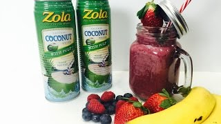 tripple berry twister with zola coconut water