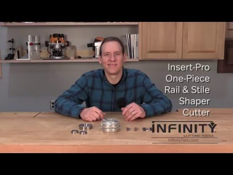 Infinity Cutting Tools - Insert-Pro One-Piece Rail & Stile Shaper