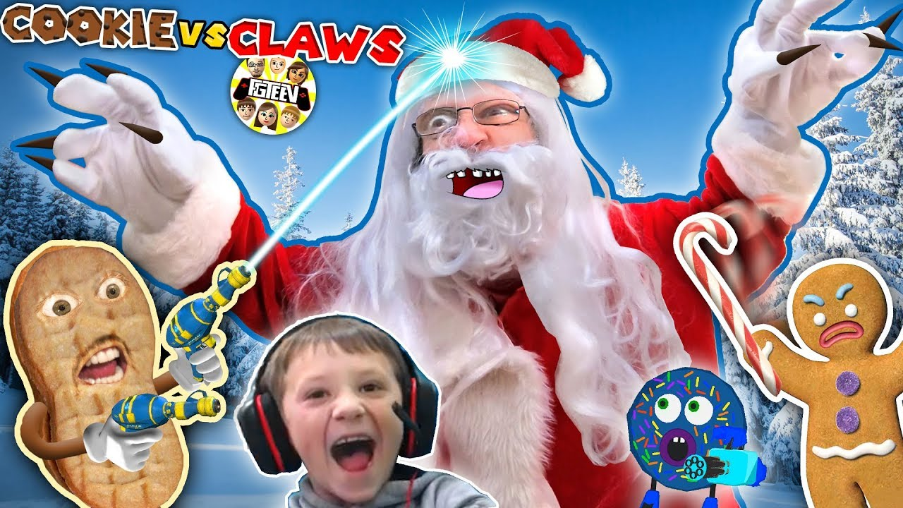 ANNOYING COOKIES vs CLAWS!  Chase vs Duddz in Santa Claus invades Valentines Day (FGTEEV SkitGame)