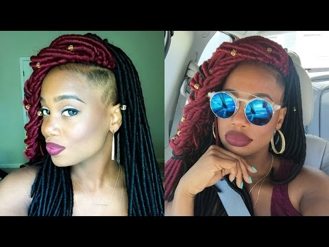 Havana Mambo Faux Locs Crochet Braids with Shaved Sides plus Babershop Series #5 | MissKenK