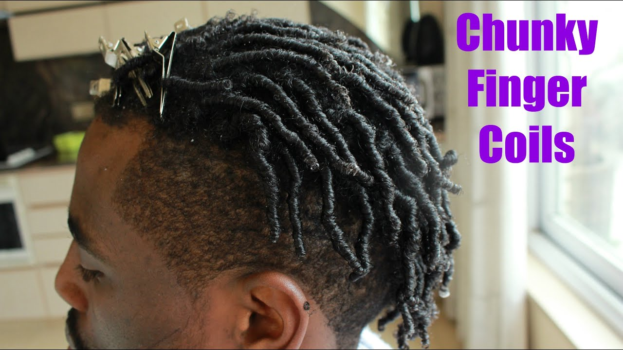 Men Hair How To Do Chunky Finger Coils Tutorial Youtube