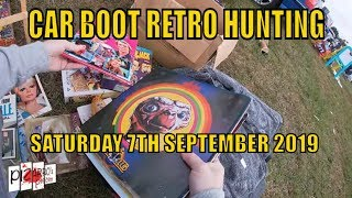Pizarro's Pieces Car Boot Retro Toy Hunting on GoPro Saturday 7th Sept